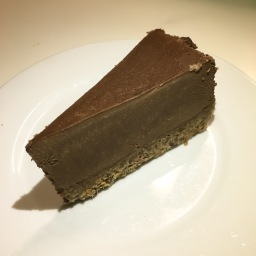 raw chocolate and espresso tart