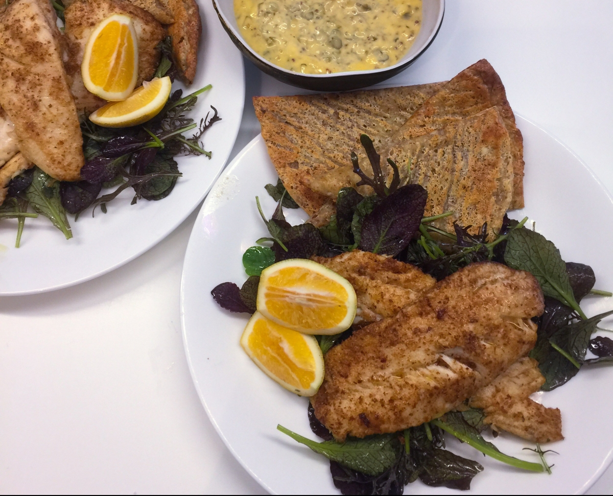 Fish N Chips With Homemade Tartare Sauce Amp Spicy Greens